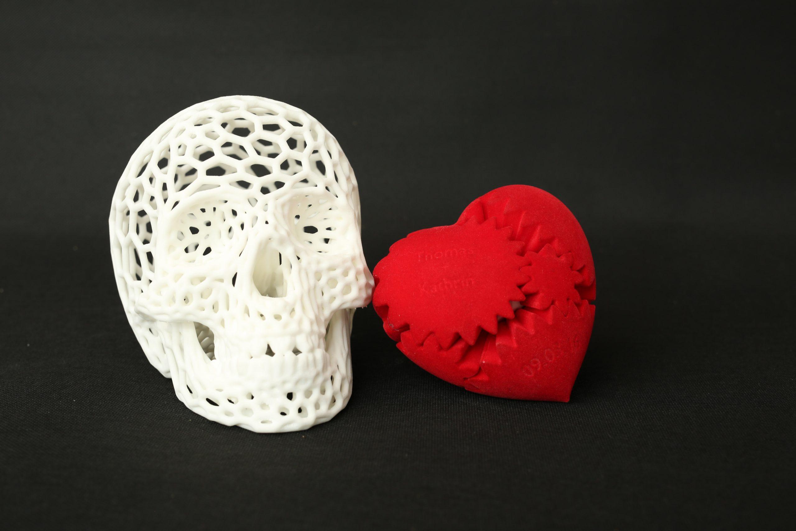 3D printed artistic skull
